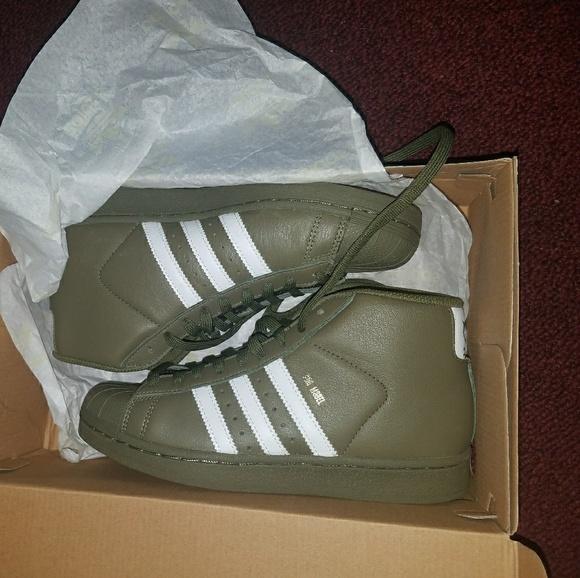 adidas Shoes   Olive Green Adidas Pro